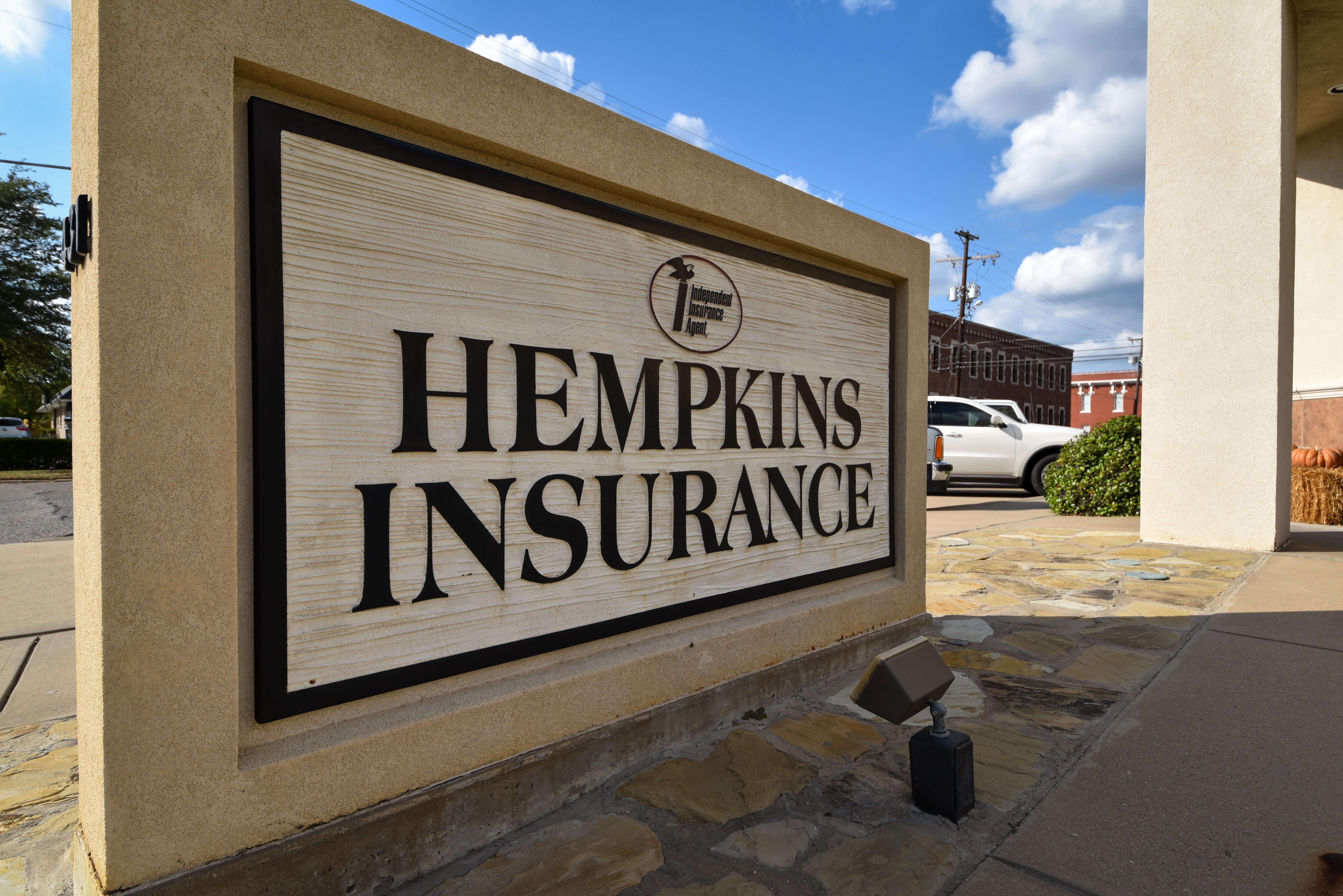Hempkins Insurance Denison Office Sign